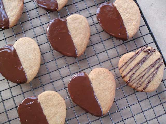 Browned Butter Sugar Cookies...Chocolated Dipped!