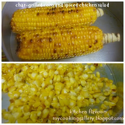 Char-Grilled Corn And Spiced Chicken Salad and A New Baking Event !!
