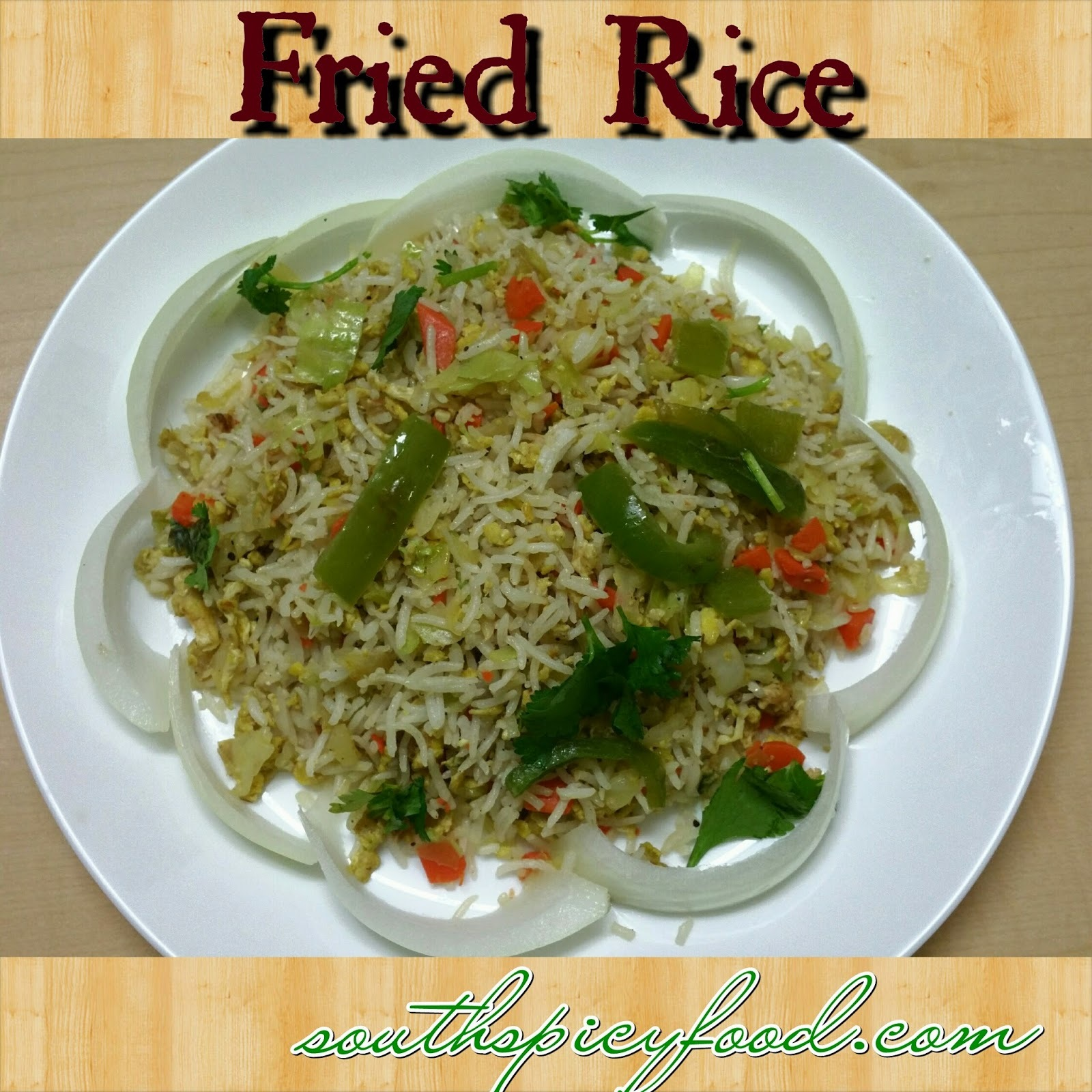 Egg Fried Rice Recipe-Indian-Chinese Egg Fried Rice Recipe