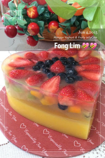 ~~  Manggo Yoghurt Fruity Jelly Cake   ~~  芒果乳酸&水果燕菜蛋糕  ~~