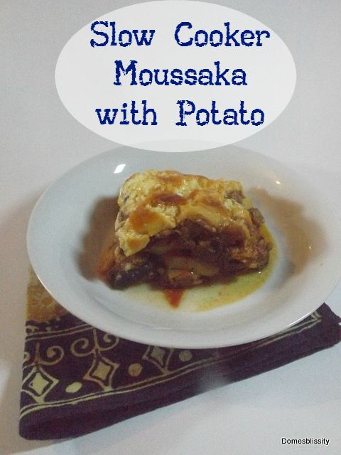Slow cooker Moussaka with potato