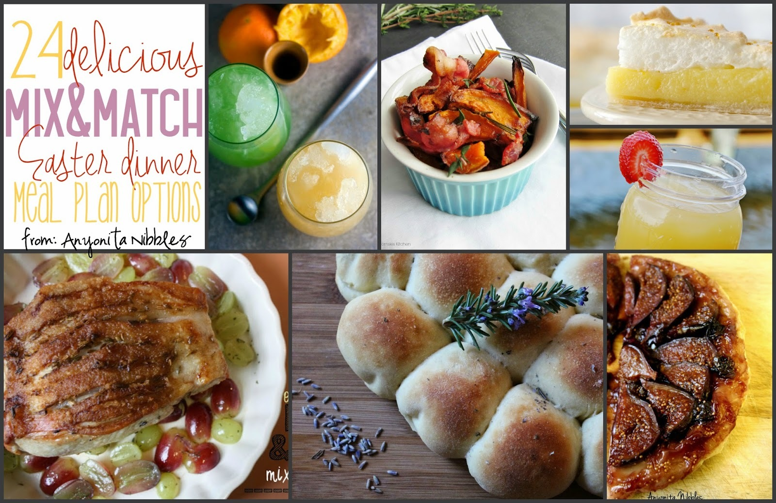 24 Delicious Mix & Match Easter Dinner Meal Plan Options