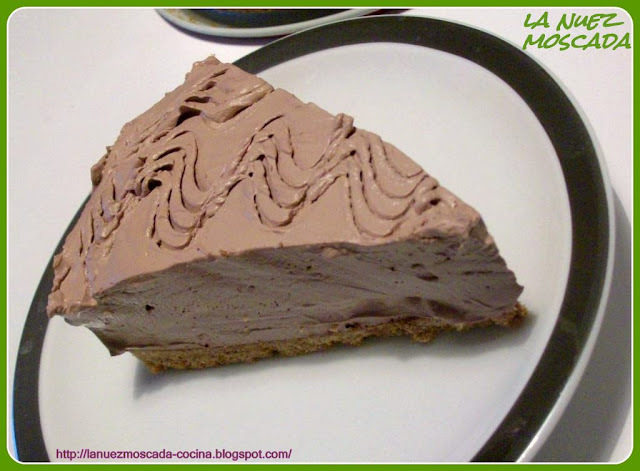 Cheesecake al cioccolato fredda (senza cottura) - Cheesecake de chocolate fría (sin horno)