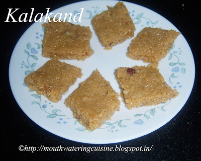 Kalakand Recipe -- How to make Kalakand at Home -- Milk Burfi Recipe