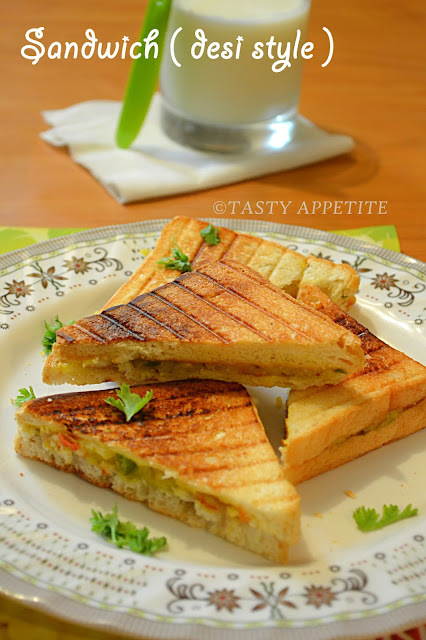 How to make Grilled Masala Sandwich / Indian Style Sandwich / Easy Sandwich Recipes