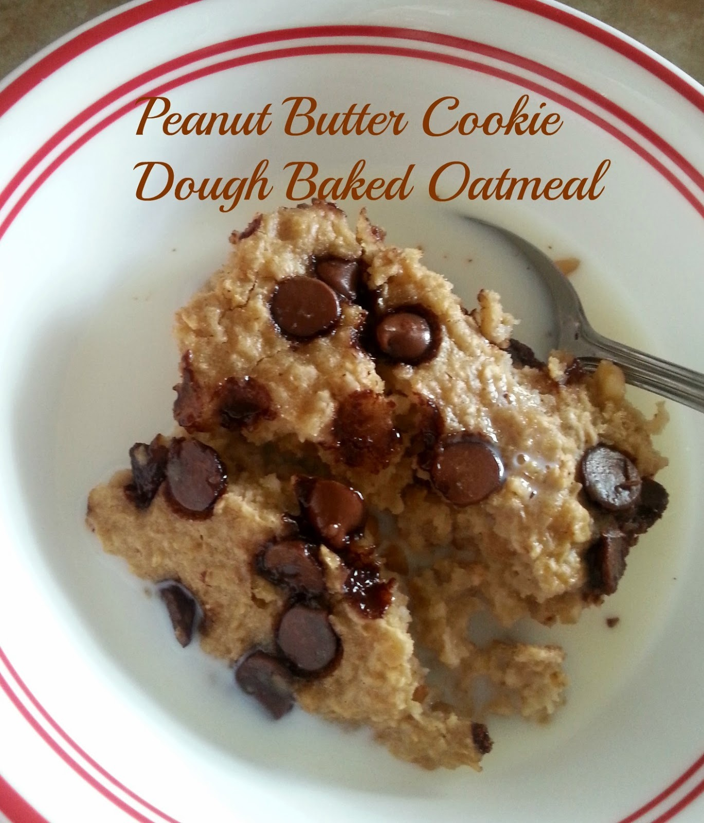 Peanut Butter Cookie Dough Baked Oatmeal