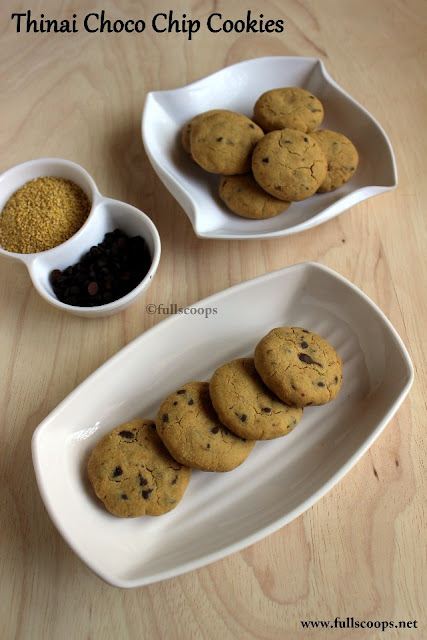 Thinai Chocolate Chip Cookies | Thinai Cookies | Foxtail Millet Cookies