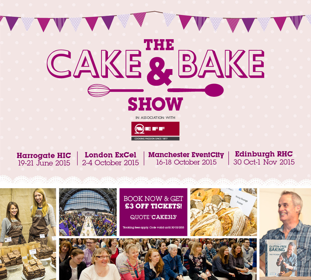 £3 OFF BBC CAKE AND BAKE SHOW TICKETS (MATTYB OFFERS)