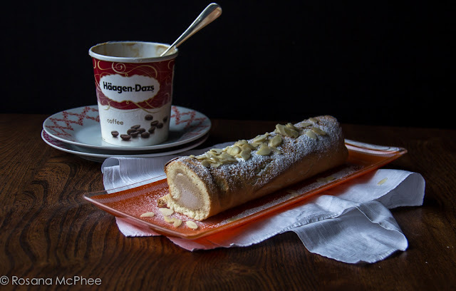 Häagen-Dazs: coffee ice cream roulade recipe