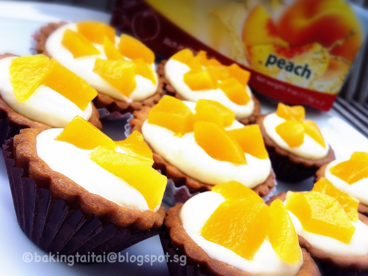 Peach Cheese Tart Tutorial Recipe   蜜桃芝士挞 (中英食谱教程)