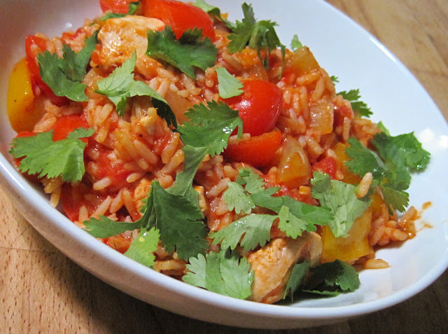 Jollof Rice with Chicken - Easy One Pot Cooking