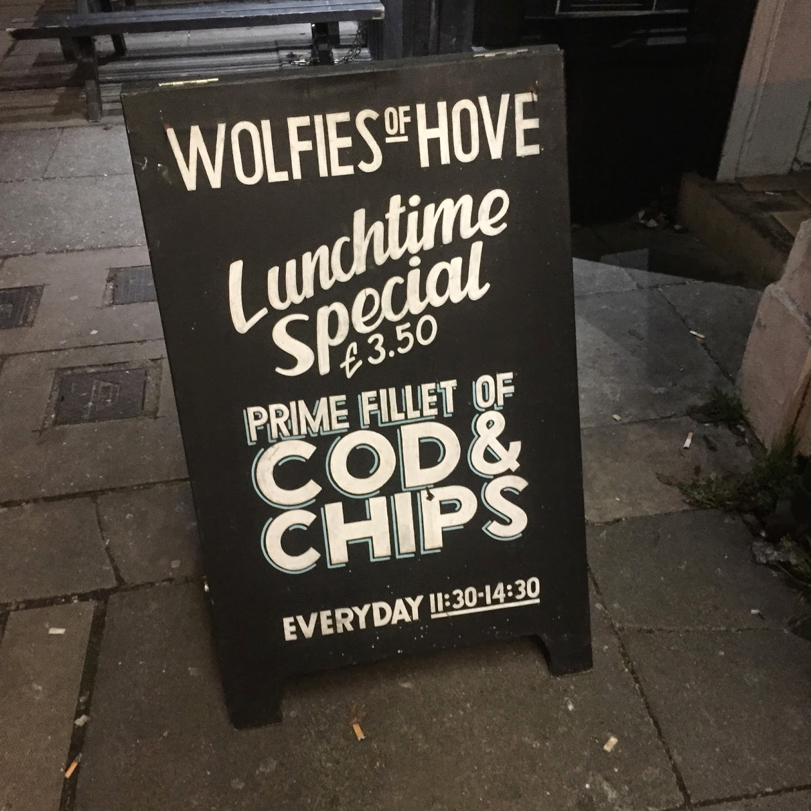 Review: Wolfies fish & chip shop, Hove