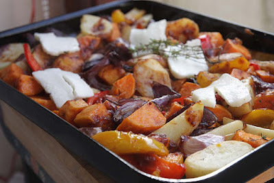 Jamaican Jerk Roasted Vegetable Tray Bake