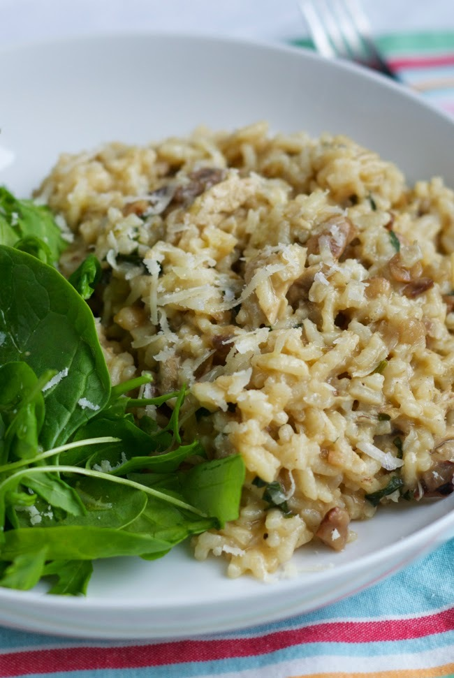 Leftover pheasant (or turkey) and chestnut risotto