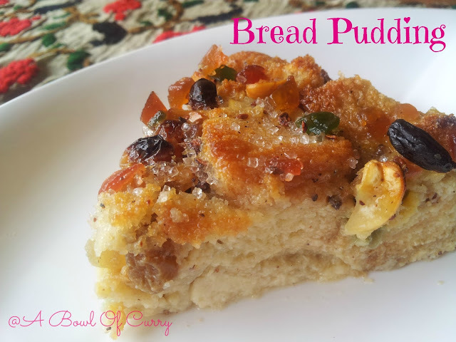 Easy Bread Pudding with Nuts and Raisins