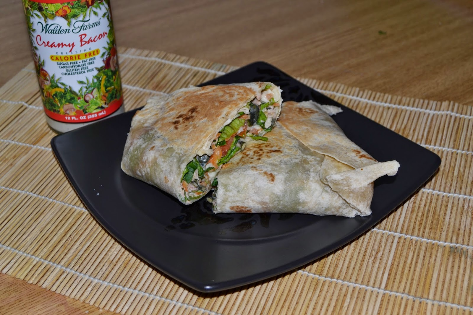 Wraps de ensalada con cream bacon