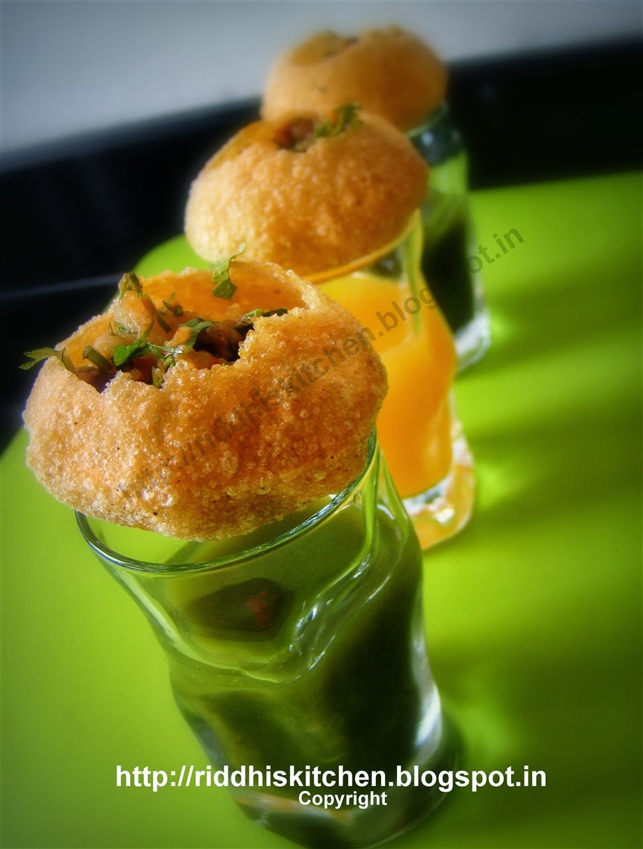 PaniPuri Shots With Fudina Masala And Orange Masala