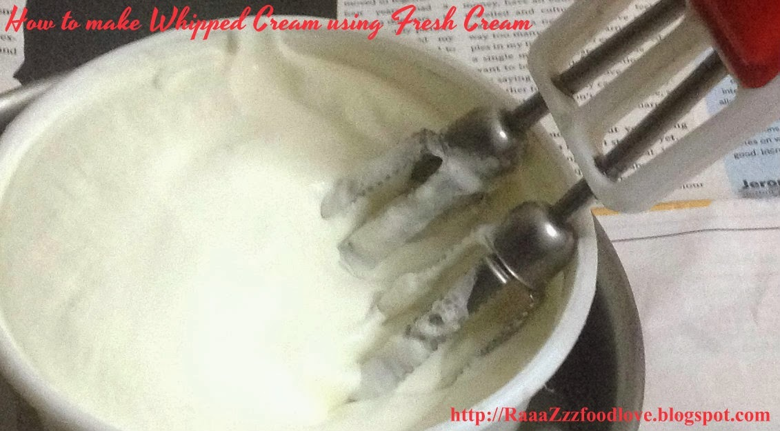 How to Make Whipped Cream from Fresh Cream at home