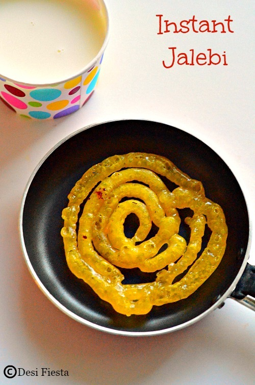 Instant Jalebi Recipe | Jalebi with No Yeast ~ Diwali Recipes