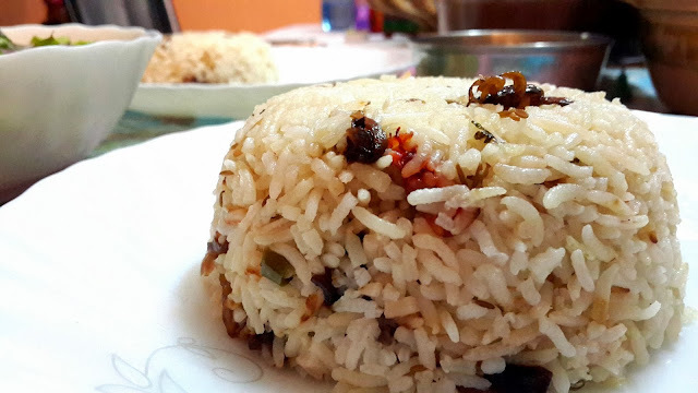 Jeera Rice - Cumin flavored Rice in the Rice Cooker