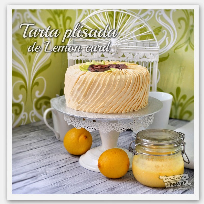 TARTA PLISADA DE LEMON CURD / LEMON CURD PLEATED LAYER CAKE