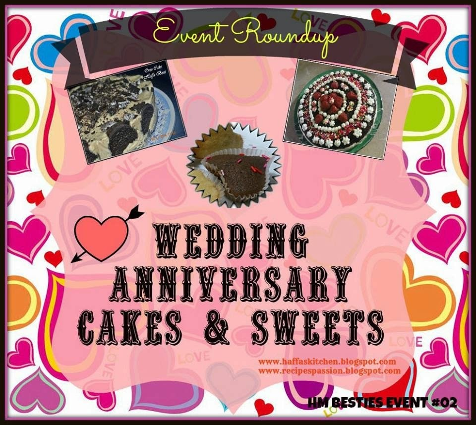 Wedding Anniversary Cakes & Sweets Event Round up