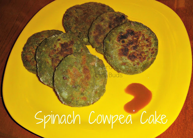 Spinach and Cowpea cakes