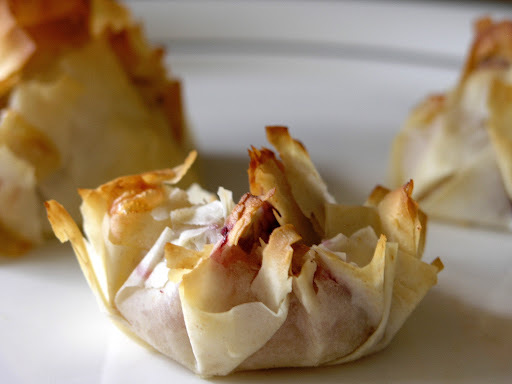 Brie and cranberry parcels