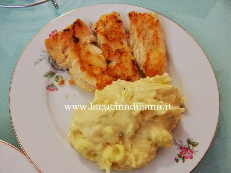 Filetti di Pesce con crema di Patate