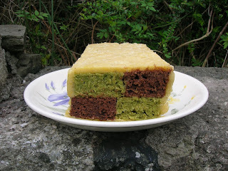 Chocolate and Matcha Battenberg - We Should Cocoa 8