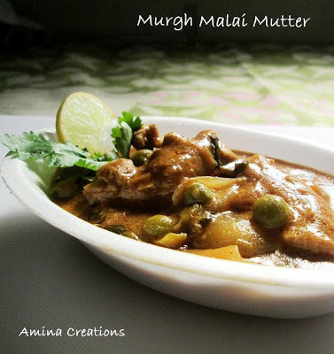 MURGH MALAI MUTTER/ CHICKEN AND PEAS GRAVY