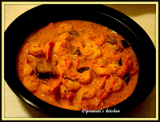 chingudi Besara/ shrimp curry (typical Odisha style)
