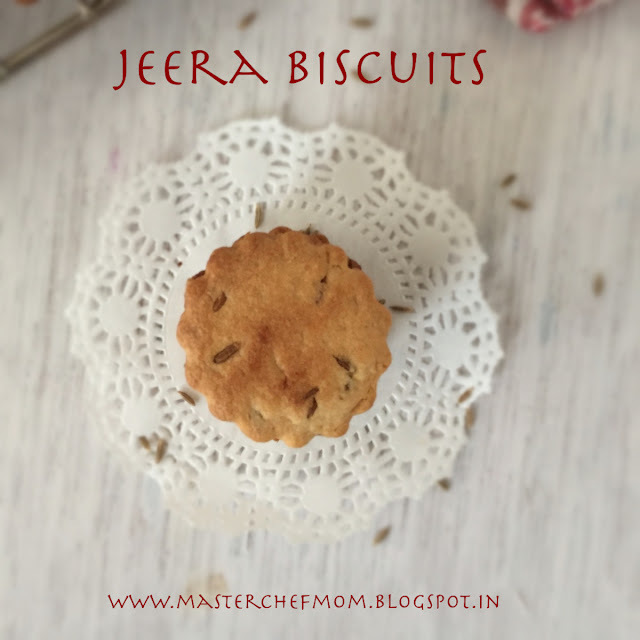 Jeera Biscuits with Chai | Cumin Seeds Biscuit Recipe | An EgglessRecipe | Howto make Jeera Biscuits |Stepwise Pictures