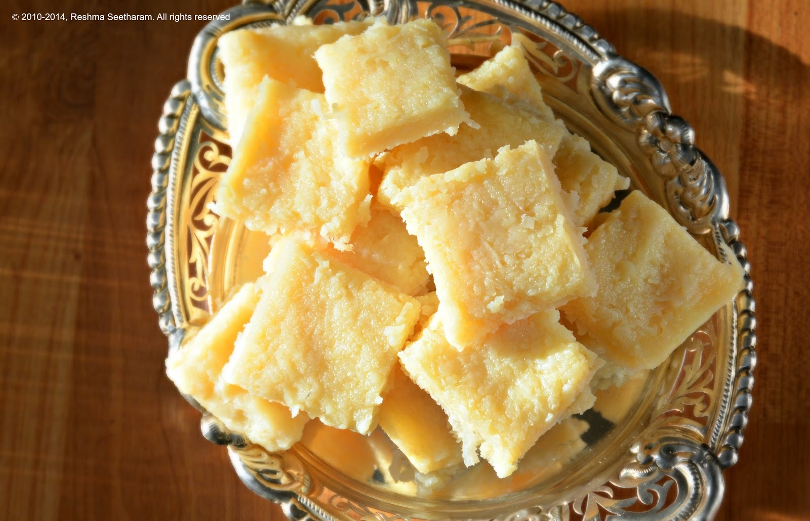 Coconut and milk burfi