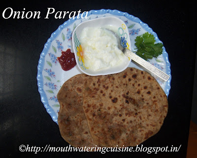 Onion Parata -- How to make Onion Parata -- Onion Parata Recipe
