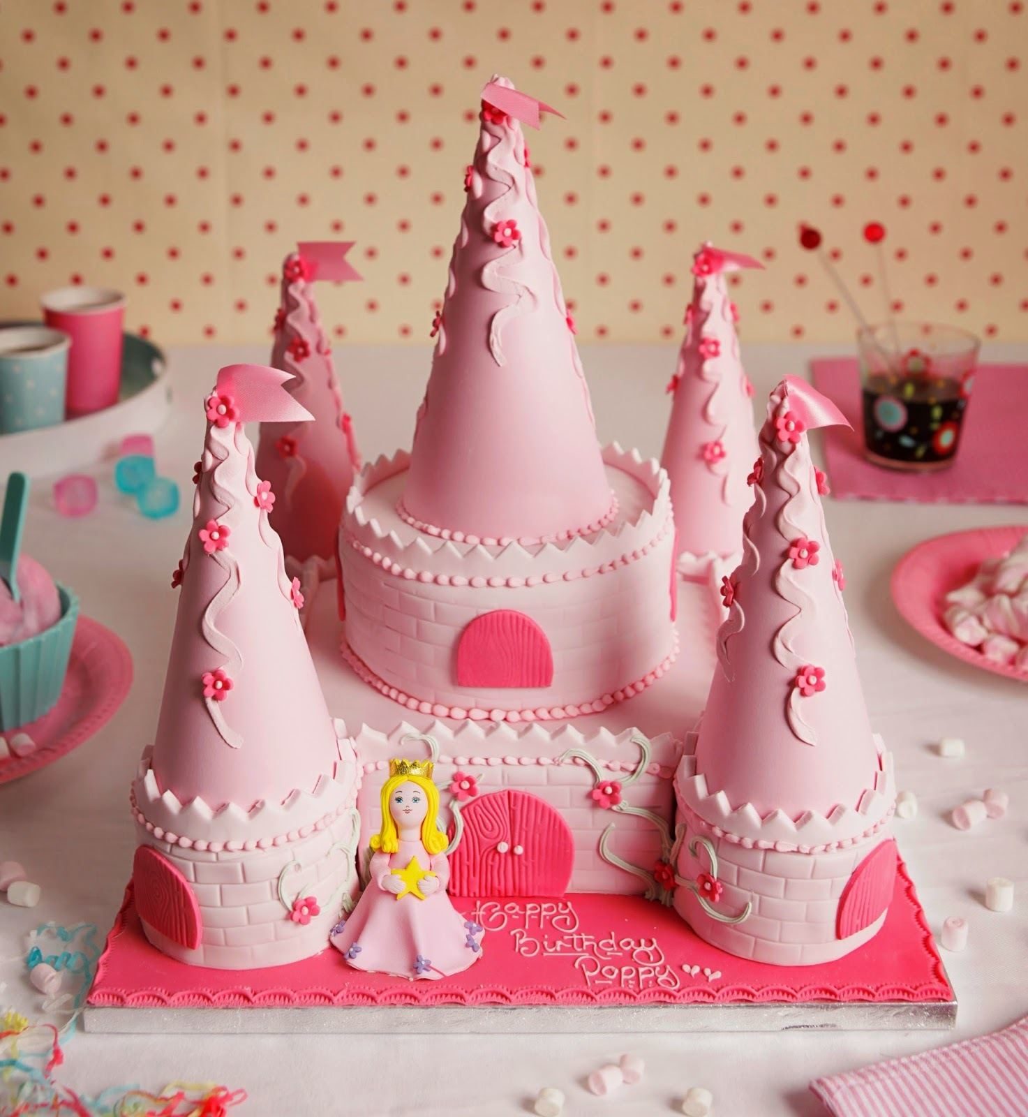 Decoración torta princesas