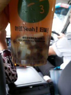 Peach Ice Tea with Coconut Jelly- Penang Style