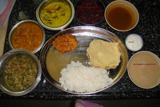 TAMIL NADU LUNCH MENU
