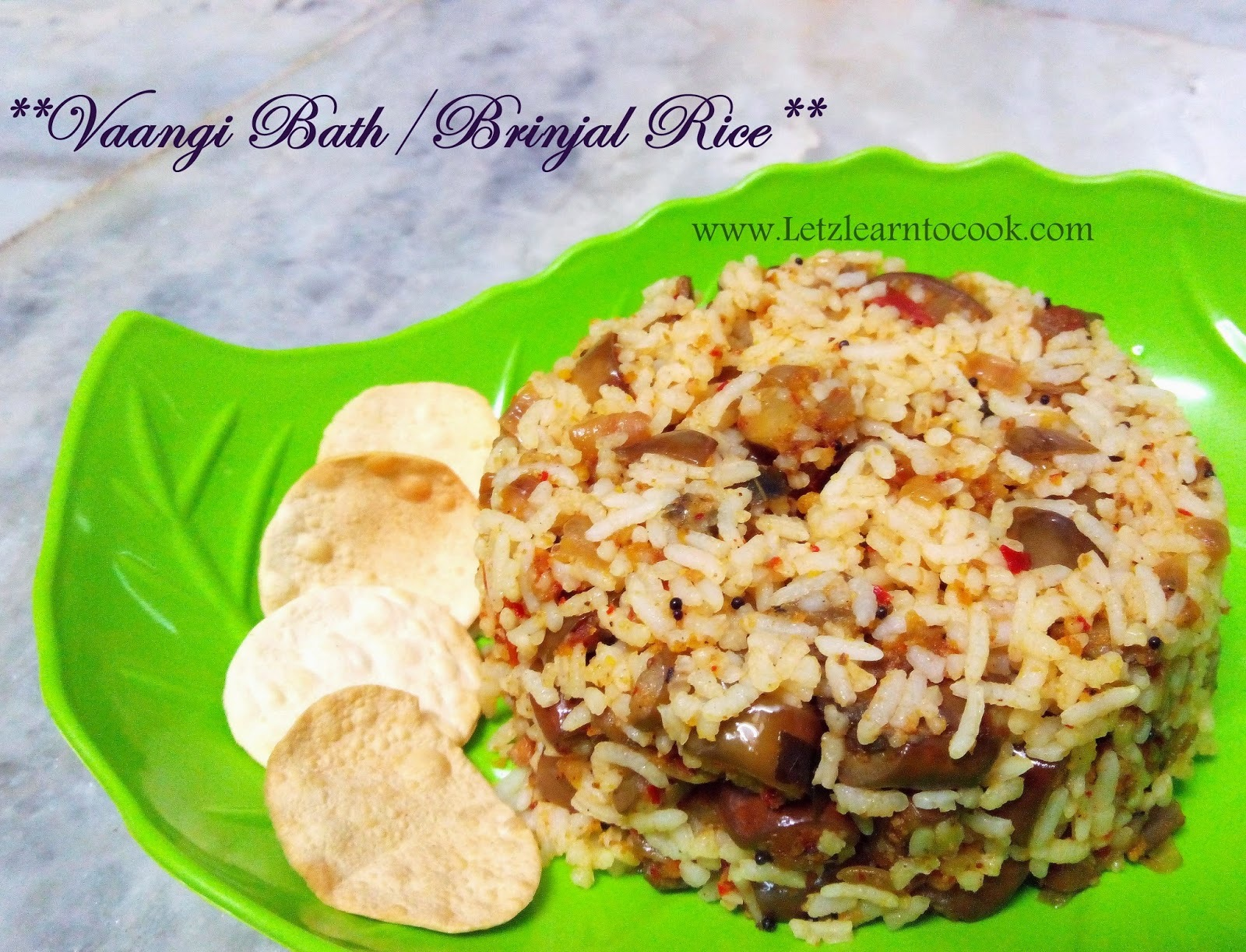 Vaangi Bath/Brinjal Rice