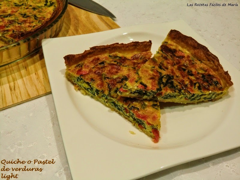 Quiche o Pastel Salado de Acelgas Light