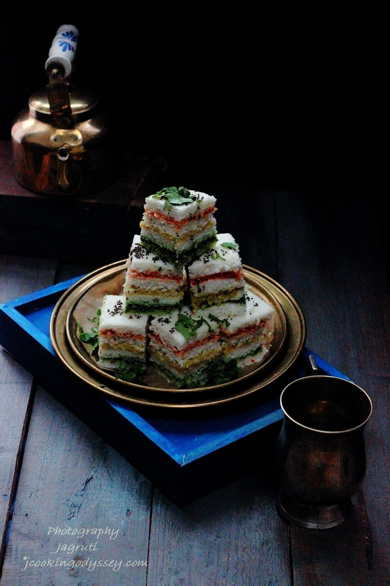 Three Layered Sandwich Dhokla #Gujarati cuisine #Healthy #snack  #kemcho