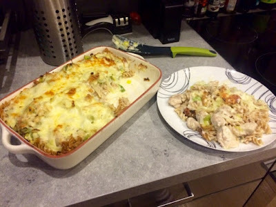 Chicken & Leek Cheesy Pasta Bake