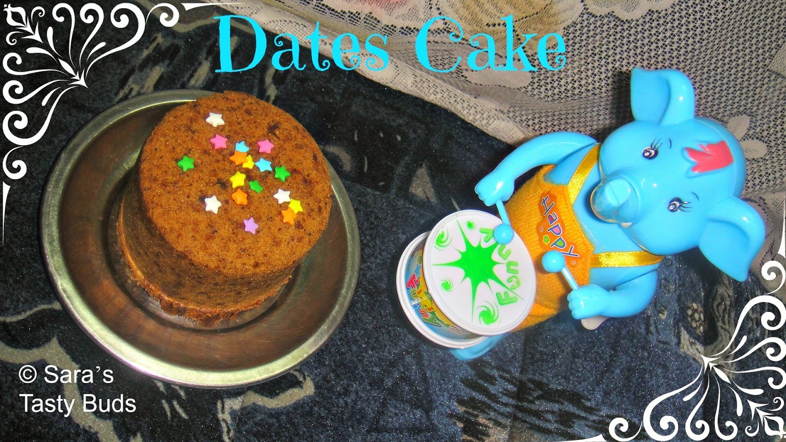 Dates Cake – Eggless , Butterless , Steamed