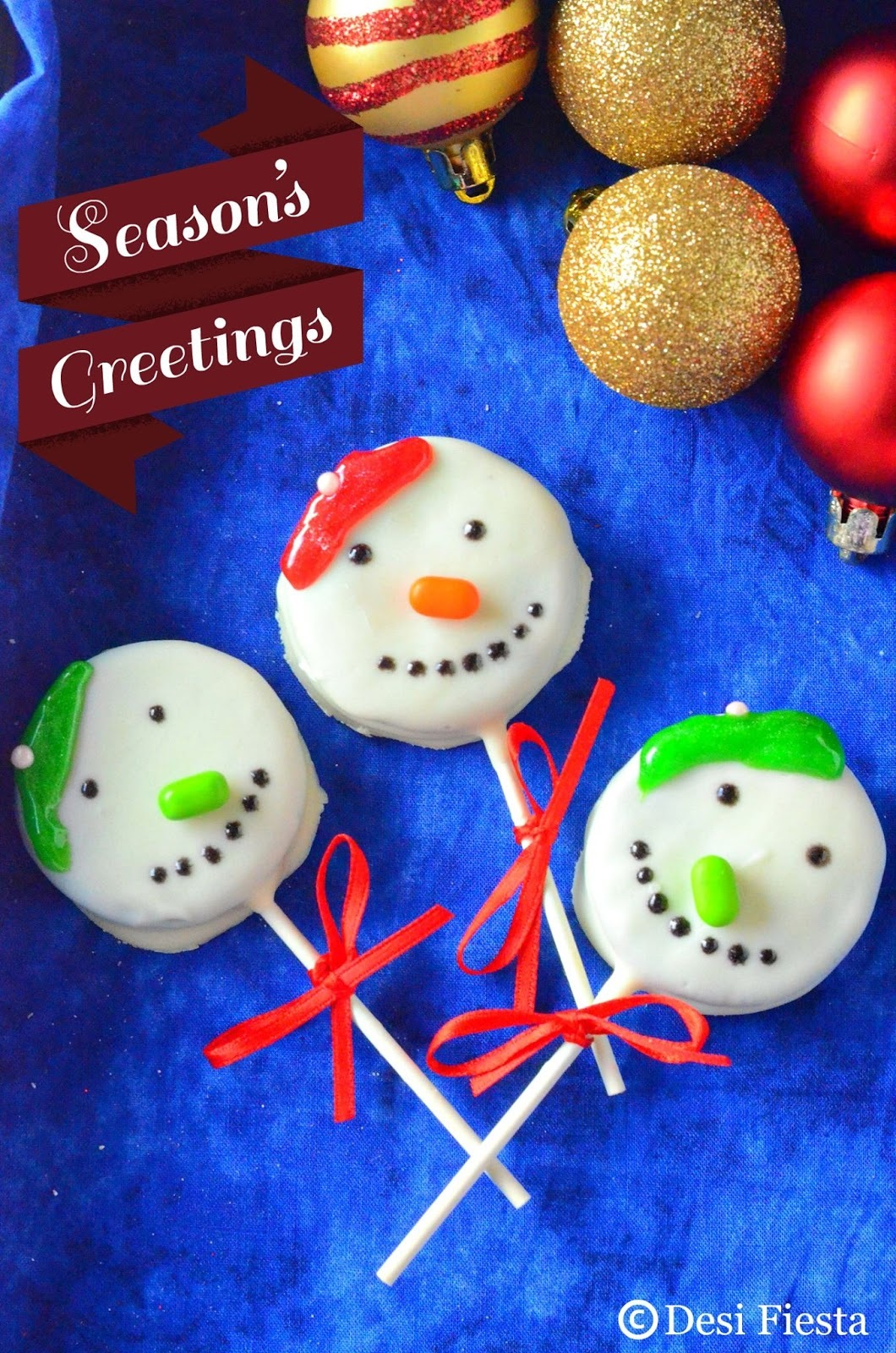 Snowmen Oreo Pops Recipe | Easy Oreo Pops | Kids friendly Treats