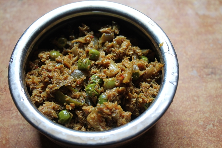 Soya Kheema Curry Recipe / Soya Kheema Matar Recipe / Vegetarian Kheema Curry Recipe / Veg Kheema Matar Recipe