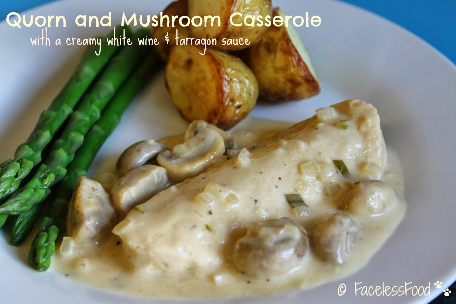 Quorn and Mushrooms in a White Wine & Tarragon Sauce