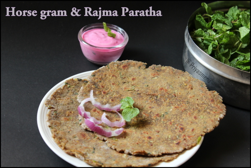 Horse gram & Rajma Paratha / Diet Friendly Recipes - 17 / #100dietrecipes