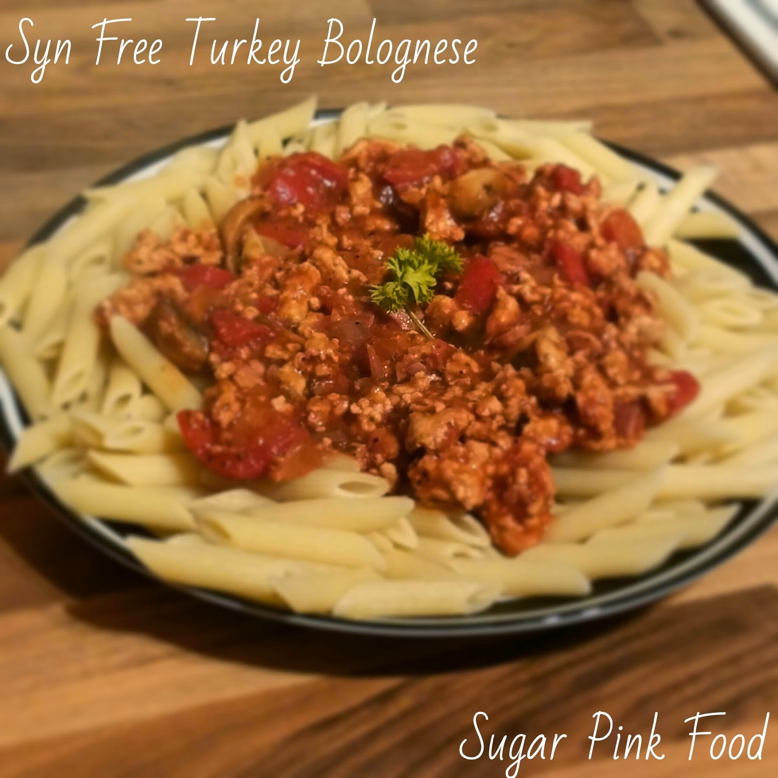 Slimming World Recipe: Syn Free Turkey Bolognese