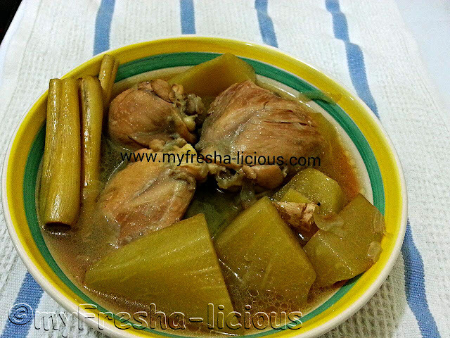 Slow-cooked Tinolang Manok with Tanglad (lemon grass)