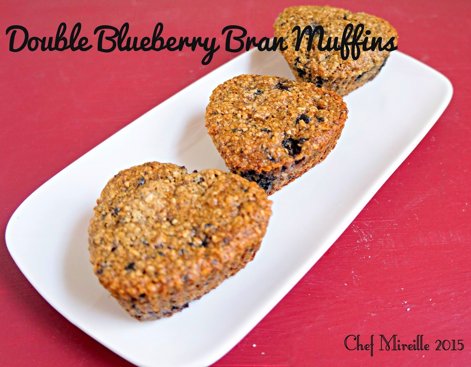 Double Blueberry Bran Muffins